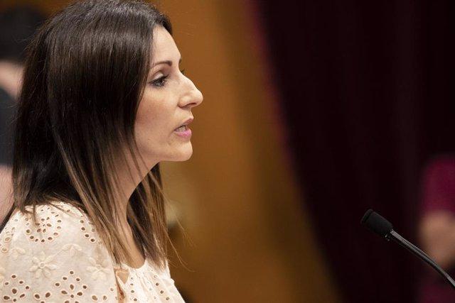 La diputada del PP al Parlament Lorena Roldán en el debat de política general