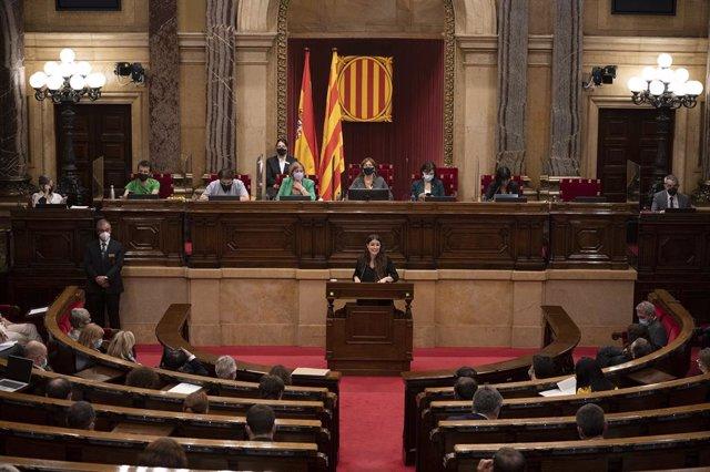Hemicicle del Parlament de Catalunya durant el debat de política general