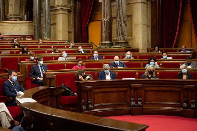 Imatge d'arxiu - La bancada socialista, en el Parlament de Catalunya, durant el Debat de Política General, a 29 de setembre de 2021, a Barcelona, Catalunya (Espanya).