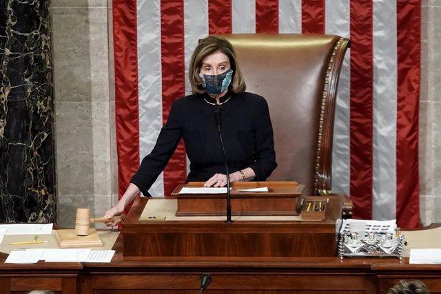 Archivo - La presidenta de la Cámara de representantes, de EEUU, Nancy Pelosi.