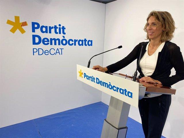 Arxiu - La secretària general del PDeCAT, Àngels Chacón