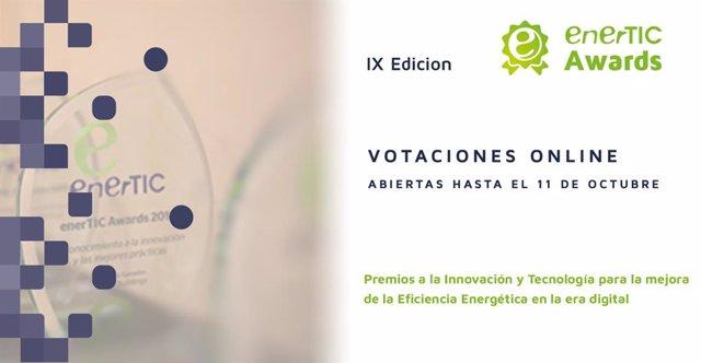 EnerTIC abre el proceso de votaciones de los 'Premios a la innovación y tecnología para la eficiencia energética en la era digital'