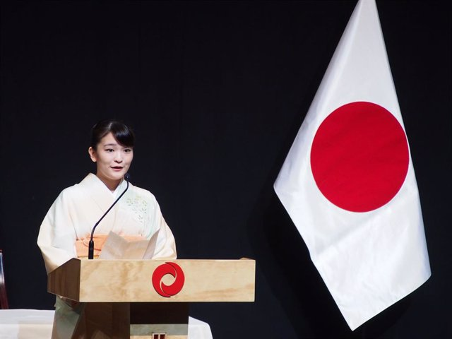 Archivo - 10 July 2019, Peru, Lima: Princess Mako of Akishino, the first child and elder daughter of Japanese Crown Prince Fumihito and Princess Kiko, takes part in a commemorative event celebrating 120th anniversary of the start of the Japanese immigrati