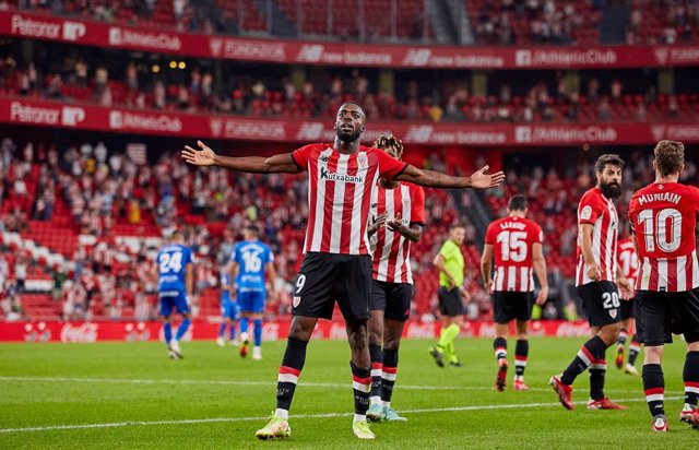 Inaki Williams of Athletic Club celebrates his goal during the Spanish league, La Liga Santander, football match played between Athletic Club and RCD Mallorca at San Mames stadium on September 11, 2021 in Bilbao, Spain.
