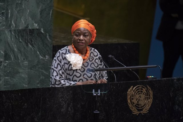 Archivo - (201001) -- UNITED NATIONS, Oct. 1, 2020 (Xinhua) -- Executive Director of the UN Population Fund Natalia Kanem addresses a high-level meeting on the 25th Anniversary of the Fourth World Conference on Women at the United Nations headquarters in