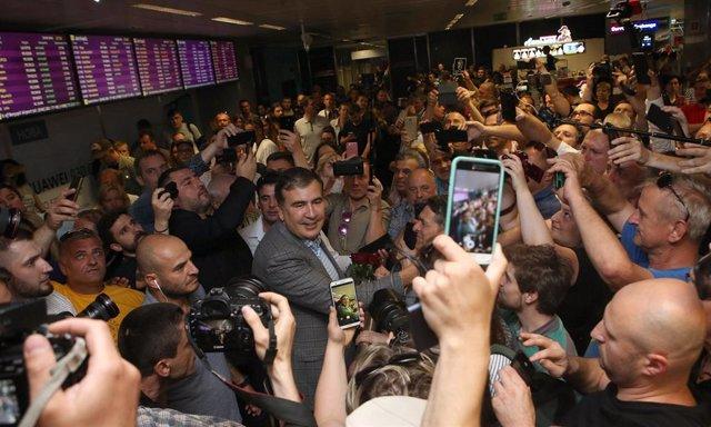 Archivo - Mijail Saakashvili llega a Ucrania