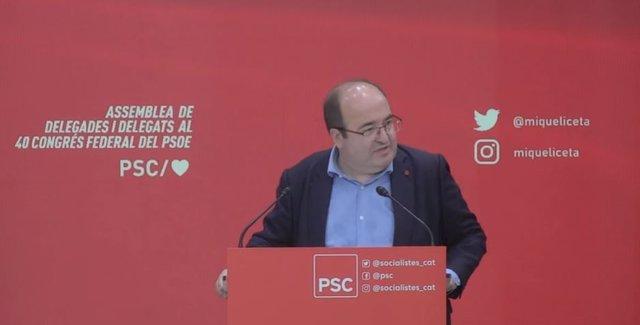 El ministre de Cultura i Esport del Govern, Miquel Iceta