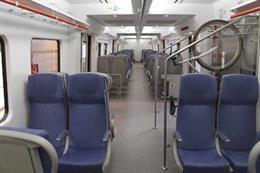Archivo - Arxiu - Interior d'un tren de Rodalies de Catalunya