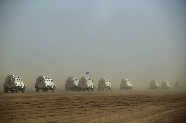 Archivo - Convoy de la MINUSMA en Malí