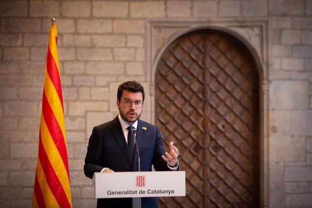 Arxiu - El president del Govern, Pere Aragonès