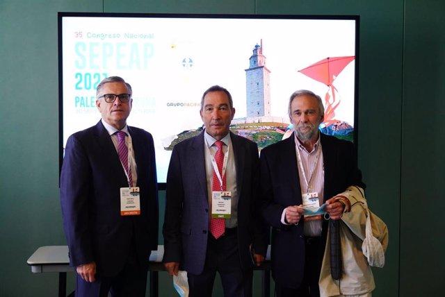 Los doctores Coronel, Pelegrini Y Sampedro.