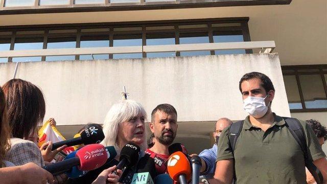 La líder de la CUP al Parlament, Dolors Sabater, en declaracions a Sardenya (Itàlia)