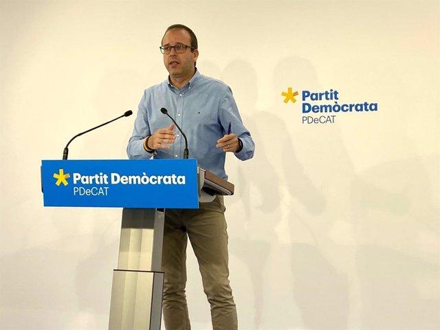 Arxiu - El portaveu del PDeCAT, Marc Solsona