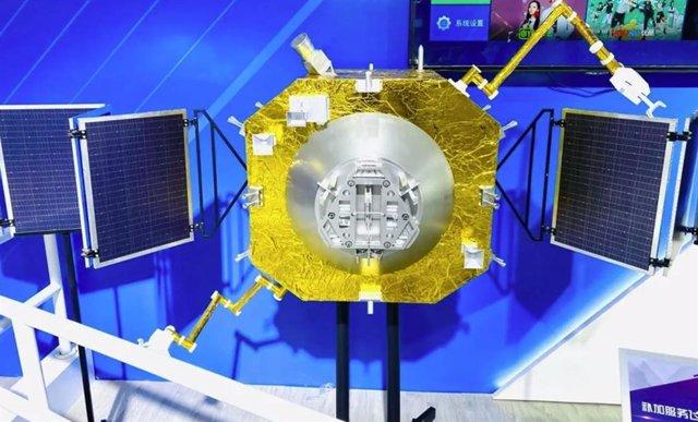 Imagen de la nave china de reabastecimiento de combustible en órbita