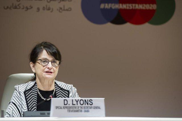 Archivo - La representante especial de la Secretaría General de la ONU para Afganistán, Deborah Lyons
