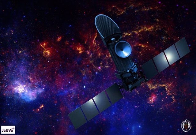 Impresión artística del Observatorio Espacial Mundial - Ultravioleta dirigido por ROSCOSMOS