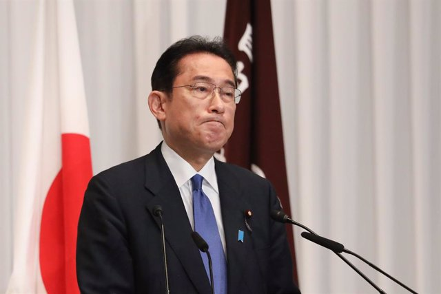 29 September 2021, Japan, Tokyo: Former Japanese Foreign Minister Fumio Kishida speaks during a press conference after he was elected as the Liberal Democratic Party (LDP) Party President at the party's headquarters in Tokyo. Photo: Pool/ZUMA Press Wire/d