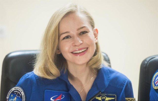 Yulia Peresid durante la rueda de prensa previa al lanzamiento