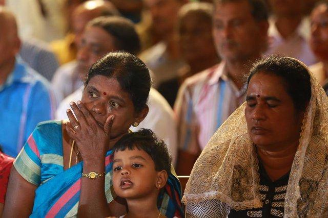 Archivo - Memorial por atentados de Sri Lanka
