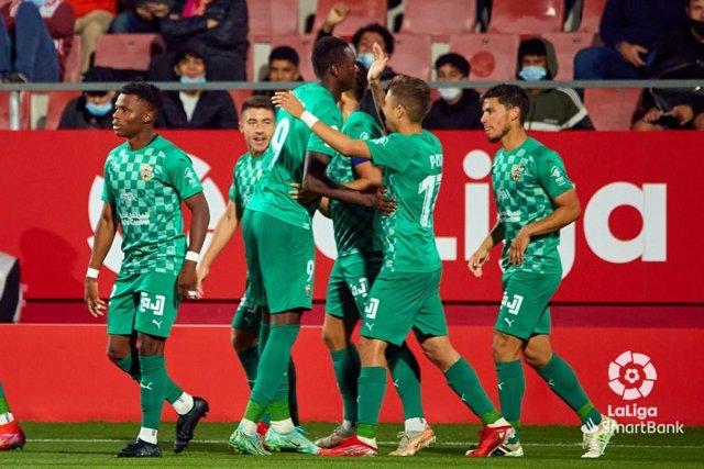 Jugadores del Almería en Girona