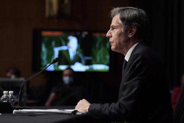14 September 2021, US, Washington: US Secretary of State Antony Blinken testifies before the Senate Committee on Foreign Relations, during the hearing about 'Examining the US Withdrawal from Afghanistan', at Senate Dirksen Office Building in Washington. P