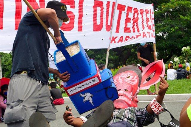 Archivo - Protesta contra Rodrigo Duterte en Filipinas