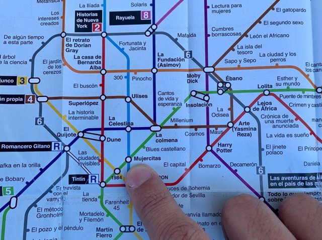 Plano Literario del Metro de Madrid