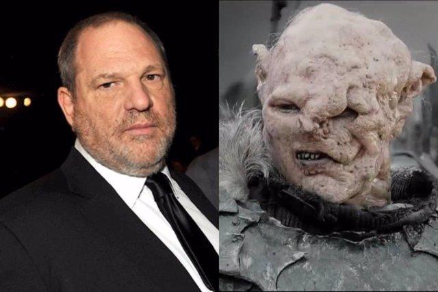 Un orco de El Señor de los Anillos estaba inspirado en Harvey Weinstein