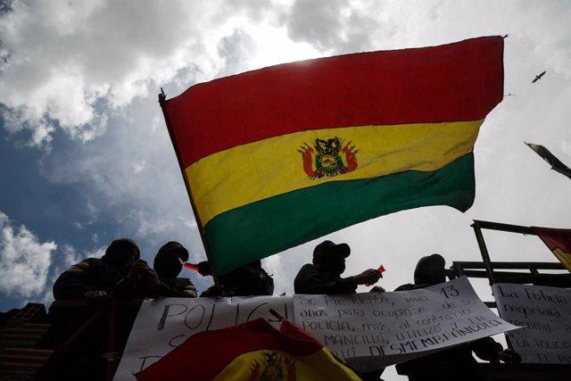 Archivo - Imagen de archivo de una protesta en Bolivia.