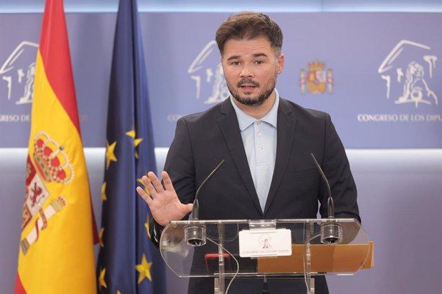 Arxiu - El portaveu parlamentari de l'ERC,  Gabriel Rufián