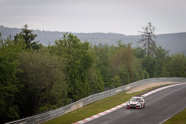 Archivo - 18 Monteiro Tiago (por), ALL-INKL.DE Munnich Motorsport, Honda Civic Type R TCR (FK8), action during the 2021 FIA WTCR Race of Germany, 1st round of the 2021 FIA World Touring Car Cup, on the Nurburgring Nordschleife, from June 3 to 6, 2021 in N