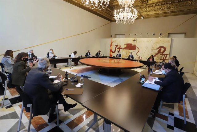 El Govern, reunit en el Consell Executiu d'aquest dimarts 5 d'octubre del 2021