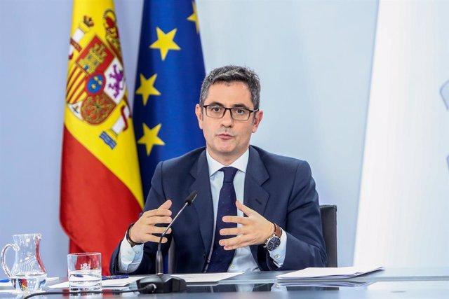 Arxiu - El ministre de la Presidència, Relacions amb les Corts i Memòria Democràtica, Félix Bolaños