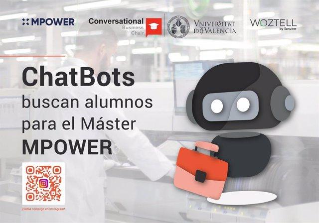 Chatbots buscan alumnos para el Máster MPOWER, ¡habla con ellos!