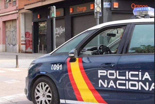 Archivo - Recurso de un vehículo de la Policía Nacional