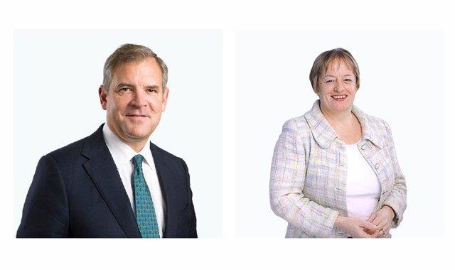 Archivo - Bruce Carnegie-Brown y Pamela Ann Walkden, exconsejero y consejera de Santander UK.