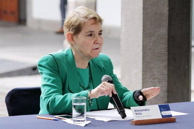 La ministra de Gobierno de Ecuador, Alexandra Vela