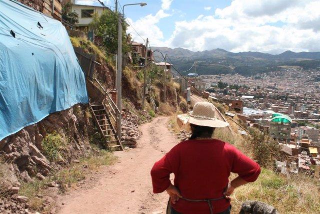 Un barrio en la periferia de Cusco (Perú).