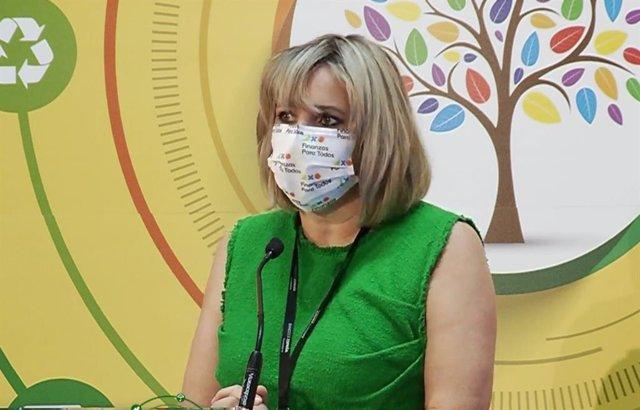 La presidenta de Asufin, Patricia Suárez, en la entrega de premios 'Finanzas para todos'.