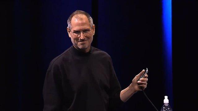 Steve Jobs en un evento de presentación de Apple.