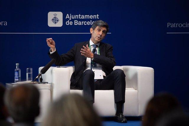Archivo - El presidente de Telefónica, José María Álvarez-Pallete, en la Reunión del Círculo de Economía