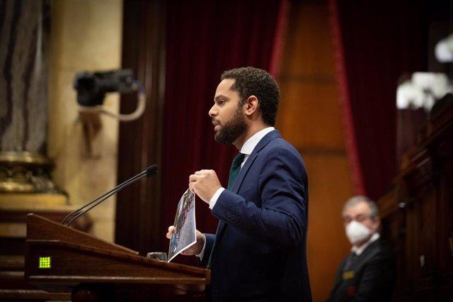 El líder de Vox al Parlament, Ignacio Garriga