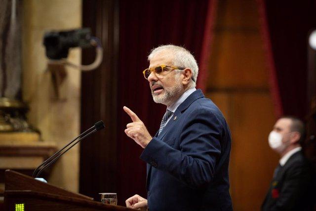 El líder de Cs al Parlament, Carlos Carrizosa