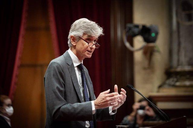 El conseller de Salut de la Generalitat, Josep Maria Argimon, al Parlament