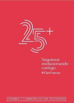 Logo conmemorativo 25 aniversario de Coonic