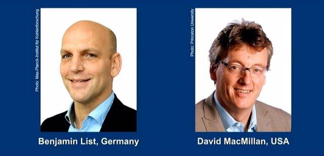 Premiats amb el Nobel de Química 2021