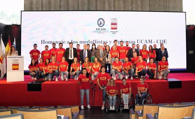 Archivo - Homenaje a los deportistas olímpicos de la UCAM