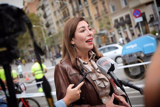 La presidenta de Cs a Barcelona, Luz Guilarte