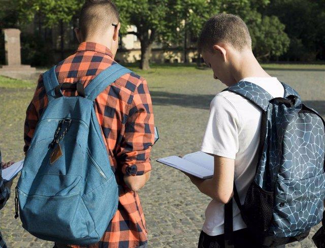 Archivo - Adolescentes en un parque