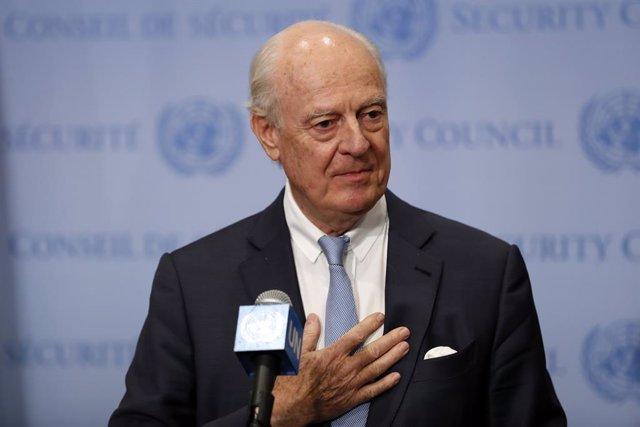 Archivo - Staffan de Mistura, antiguo enviado de la ONU para Siria